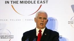 Pence fordert Europa zu Ausstieg aus Atomabkommen auf