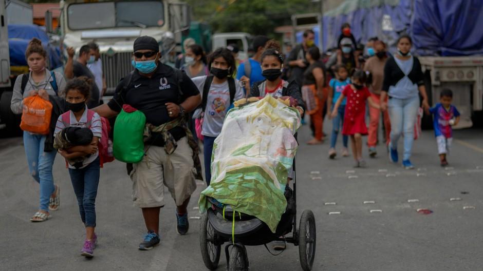 Migranten aus Honduras im Januar in Guatemala