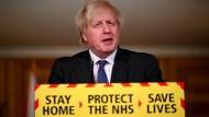 Boris Johnson am Freitag in London