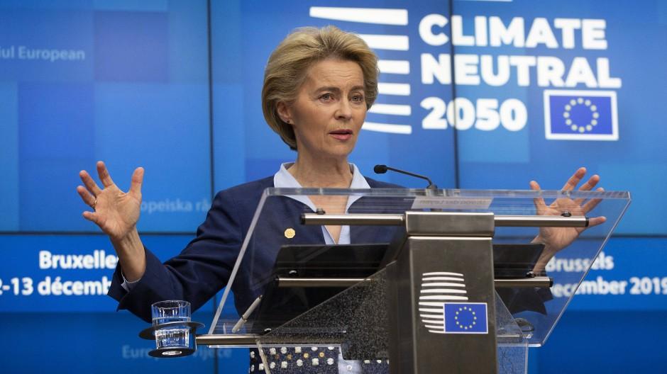 Ursula von der Leyen am Freitag in Brüssel