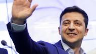 Wolodymyr Selenskyj Ende April in Kiew  – seine jüdische Herkunft wurde während des ukrainischen Präsidentschaftswahlkampfs kaum thematisiert.