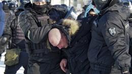 Erste Festnahmen bei Nawalnyj-Demo