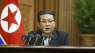 Kim Jong-un auf einem von der nordkoreanischen Regierung zur Verfügung gestellten Foto