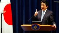 Zu einem Treffen mit Nordkoreas Machthaber bereit: Japans Ministerpräsident Shinzo Abe.
