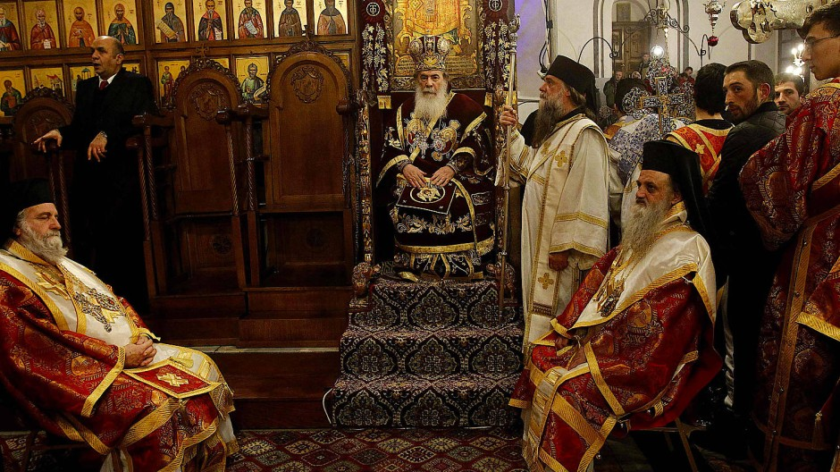 """""""Schlimmer als die Mafia"""": Viele palästinensische Christen empören sich über die Kirche unter Patriarch Theophilos III."""