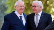 Frank-Walter Steinmeier und Reuven Rivlin am Donnerstag in Jerusalem