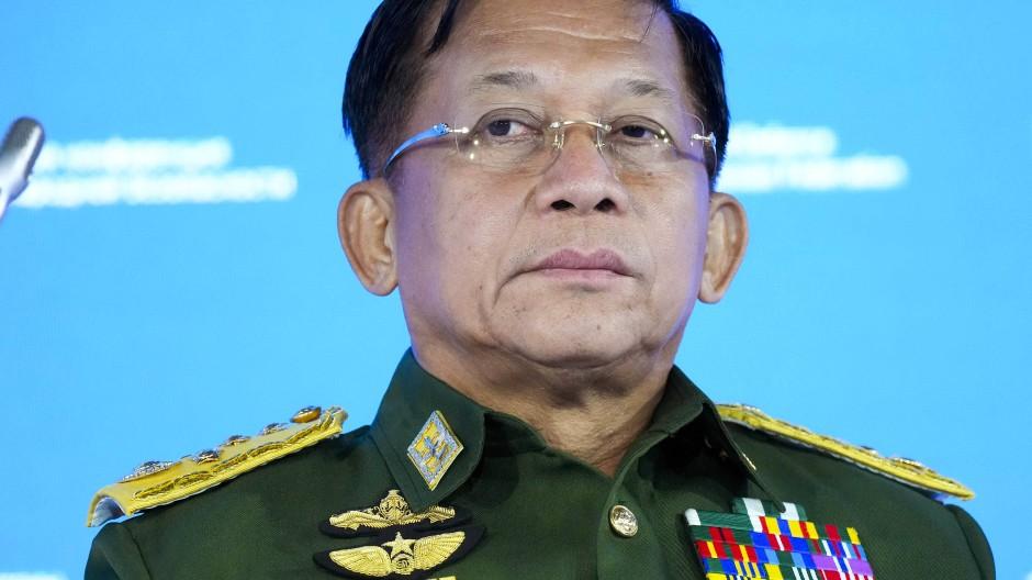 Der Chef des Militärregimes in Myanmar, General Min Aung Hlaing