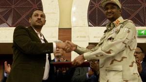 Militärrat und Protestler unterzeichnen Einigung