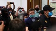 Furgal nach seiner Festnahme am Freitag in einem Moskauer Gerichtsgebäude.