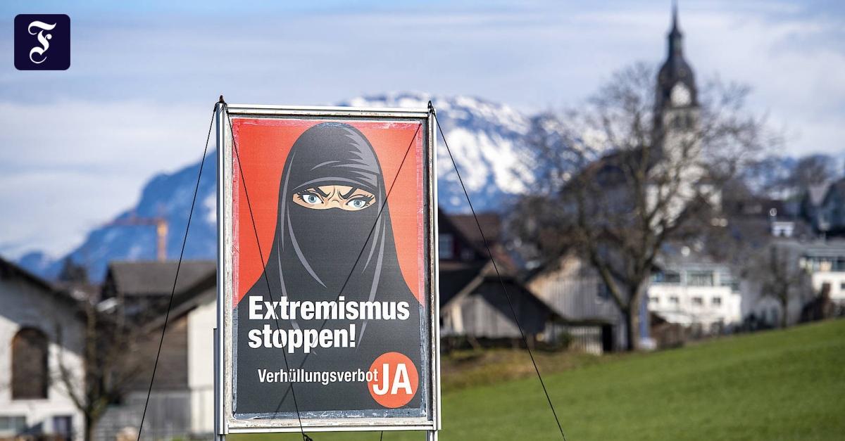 Die Burka wird in der Schweiz verboten - FAZ - Frankfurter Allgemeine Zeitung