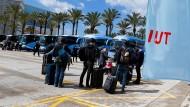 Touristen aus Berlin bei ihrer Ankunft in Palma de Mallorca am Sonntag