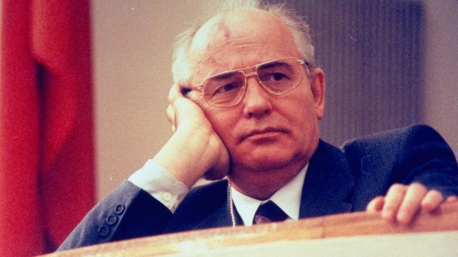 Michail Gorbatschow auf dem Kongress der Volksdeputierten, vermutlich 1990