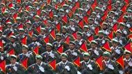 Truppen der iranischen Revolutionsgarden im September 2016 bei einer Parade in der Nähe von Teheran