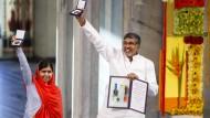 Kinderrechtler nehmen Friedensnobelpreis entgegen