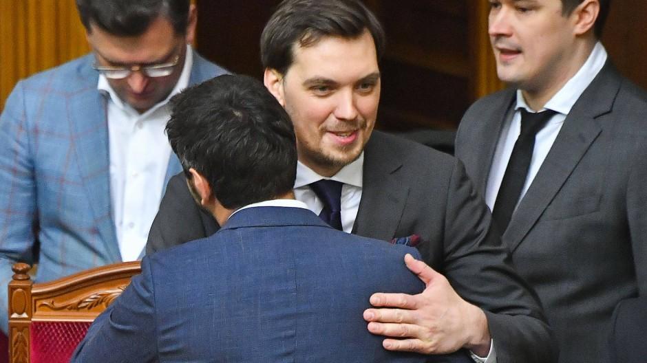 Ministerpräsident Oleksij Hontscharuk bei einer Parlamentssitzung am Tag des eingereichten Rücktritts.