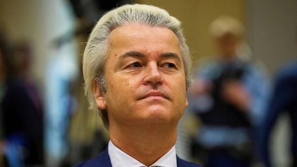 Geert Wilders nach dem Urteil