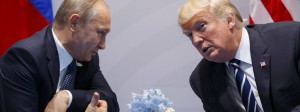 Im Verschwörerton: Putin und Trump beim G-20-Gipfel in Hamburg im Juli 2017