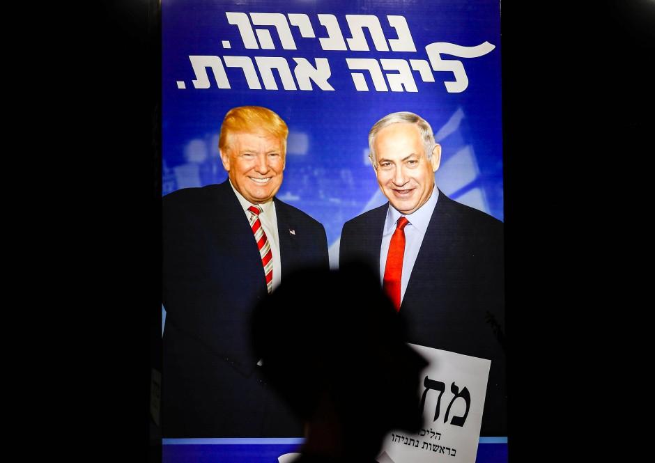 Im Wahlkampf stellt Netanjahu seine Nähe zu Donald Trump heraus
