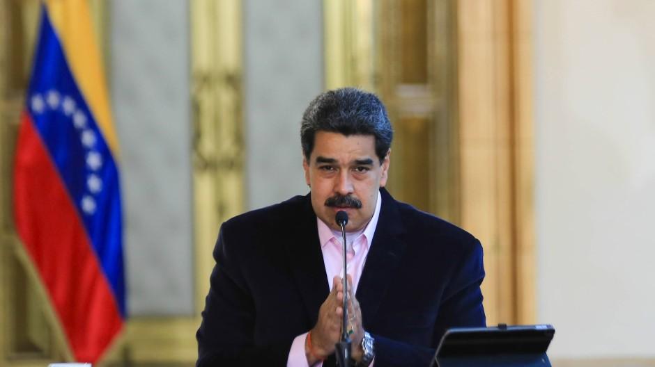 Nicolas Maduro am vergangenen Mittwoch in Caracas