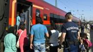 Sturm auf Züge nach Wien