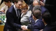 Rüge aus New York: Kurz kritisiert während der UN-Vollversammlung am Dienstag jede Einschränkung der Pressefreiheit.