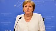 Angela Merkel am Montag in Brüssel