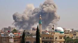 Heftige Angriffe der syrischen Armee auf die Stadt Nawa