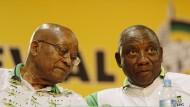 Vorgänger und Nachfolger im Amt des südafrikanischen Präsidenten: Jacob Zuma und Cyril Ramaphosa