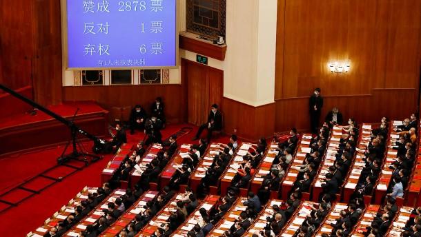 Volkskongress billigt Sicherheitsgesetz für Hongkong