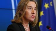 Soll für eine gemeinsame Außenpolitik stehen: die Hohe Vertreterin der EU für Außen- und Sicherheitspolitik Federica Mogherini