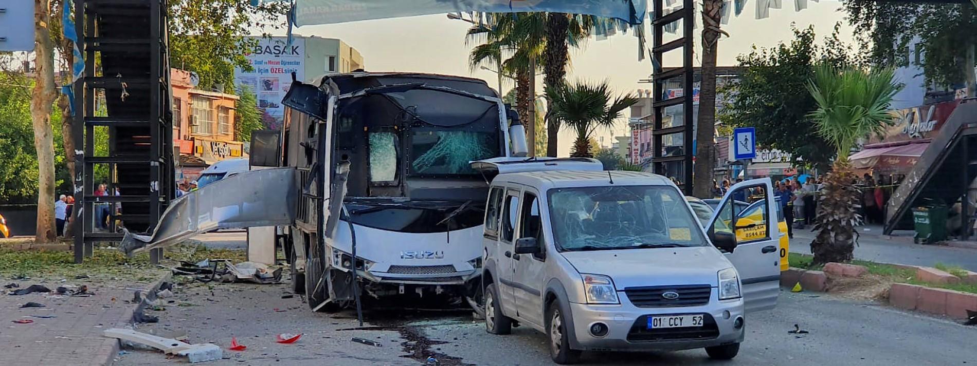 Fünf Verletzte bei Anschlag im südtürkischen Adana