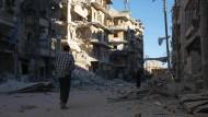 In östlichen Gebieten Aleppos kommt es schon wieder zu schweren Luftangriffen