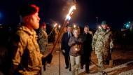 Die Lage in Afghanistan bleibt schwierig: Von der Leyen am Montag in Mazar-i-Shar.