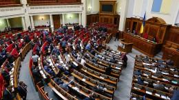 Handgemenge im ukrainischen Parlament