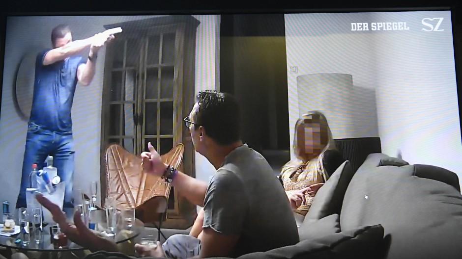 Szenen aus dem Ibiza-Video, das von Spiegel und Süddeutscher Zeitung veröffentlicht wurde.