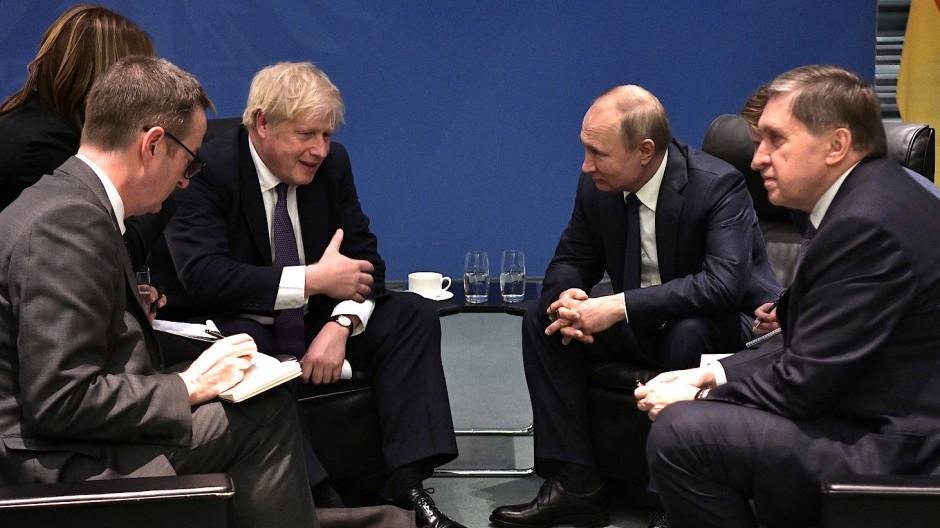 Ein frostiges Verhältnis: Boris Johnson und Wladimir Putin