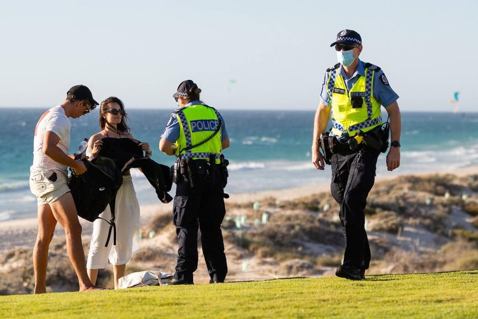 Die jeweiligen Lockdowns wie hier in Perth wurden strikt durchgesetzt.