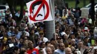 Konterfei des venezolanischen Regierungspräsidenten Nicolás Maduro: Unerwünscht bei den Demonstranten