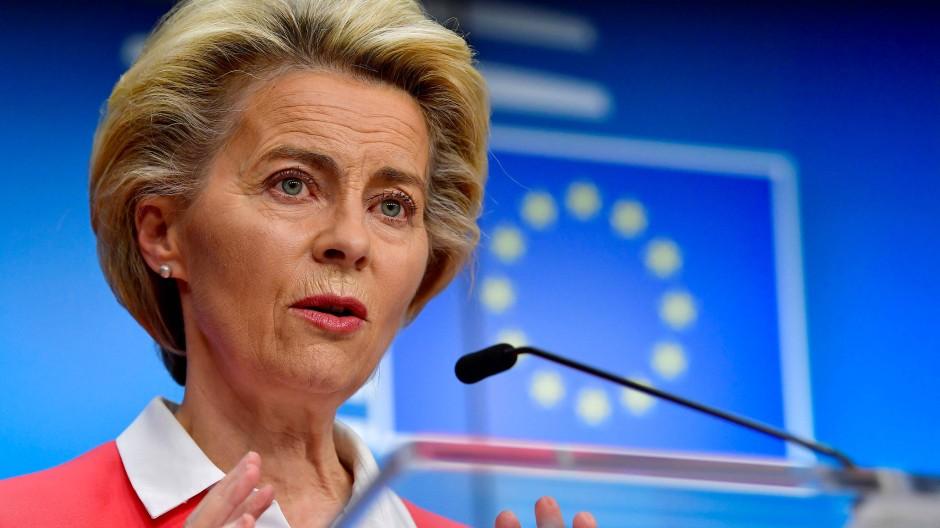 EU-Kommissionspräsidentin Ursula von der Leyen im Oktober 2020 in Brüssel