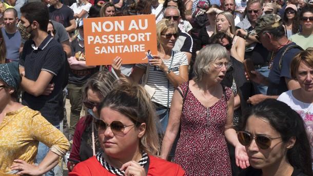 Frankreich führt Gesundheitspass ein
