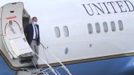 Der amerikanische Gesundheitsminister Alex Azar bei der Ankunft am Sonntag in Taipeh