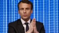 Freut sich über die Wahlhilfe von Bayrou: Emmanuel Macron könnte mit dessen Empfehlung Frankreichs neuer Präsident werden.