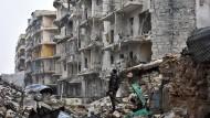 Zerbombtes Aleppo: Die syrische Stadt ist dem Erdboden gleich gemacht worden.