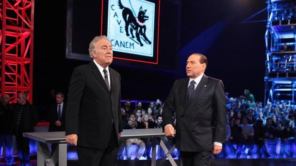 Silvio Berlusconi Attends Servizio Pubblico Italian TV Show