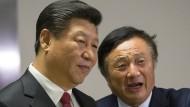 Sehen sich mit den Auswirkungen amerikanischer Sanktionen konfrontiert: Der chinesische Präsident Xi Jinping und Ren Zhengfei, Chef des Handyherstellers Huawei.