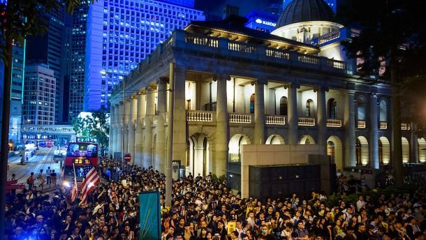 Aktivisten in Hongkong wollen weitermachen