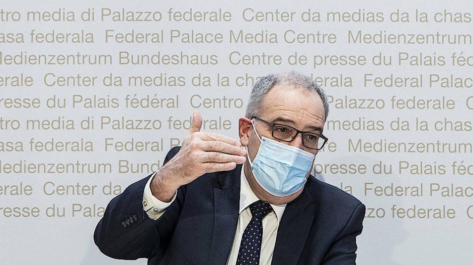 Guy Parmelin, Bundespräsident der Schweiz, am 20. Januar in Bern