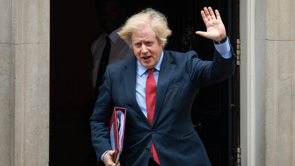 Boris Johnson im Juni in London