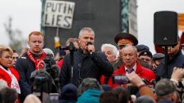 Protest in Moskau gegen Wahlergebnis
