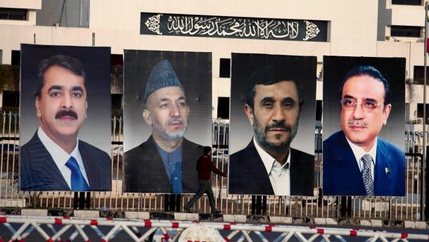 Karzai und Ahmadineschad in Pakistan